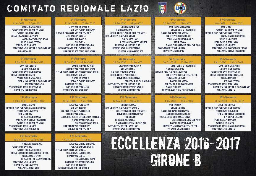 Calendario Eccellenza.Eccellenza E Promozione I Calendari Completi Raf103e5